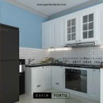 Contoh kitchen set putih cat duco gavin by portu