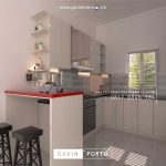 contoh kitchen set minimalis modern finishing HPL