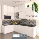 interior kitchen set minimalis modern warna putih