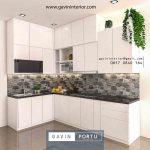 interior kitchen set minimalis modern warna putih