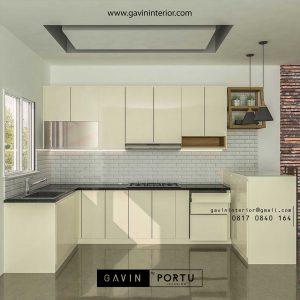 Design Kitchen Set Minimalis Warna Putih Gading Cluster Madrid Palem Semi Cibodas Tangerang id3356