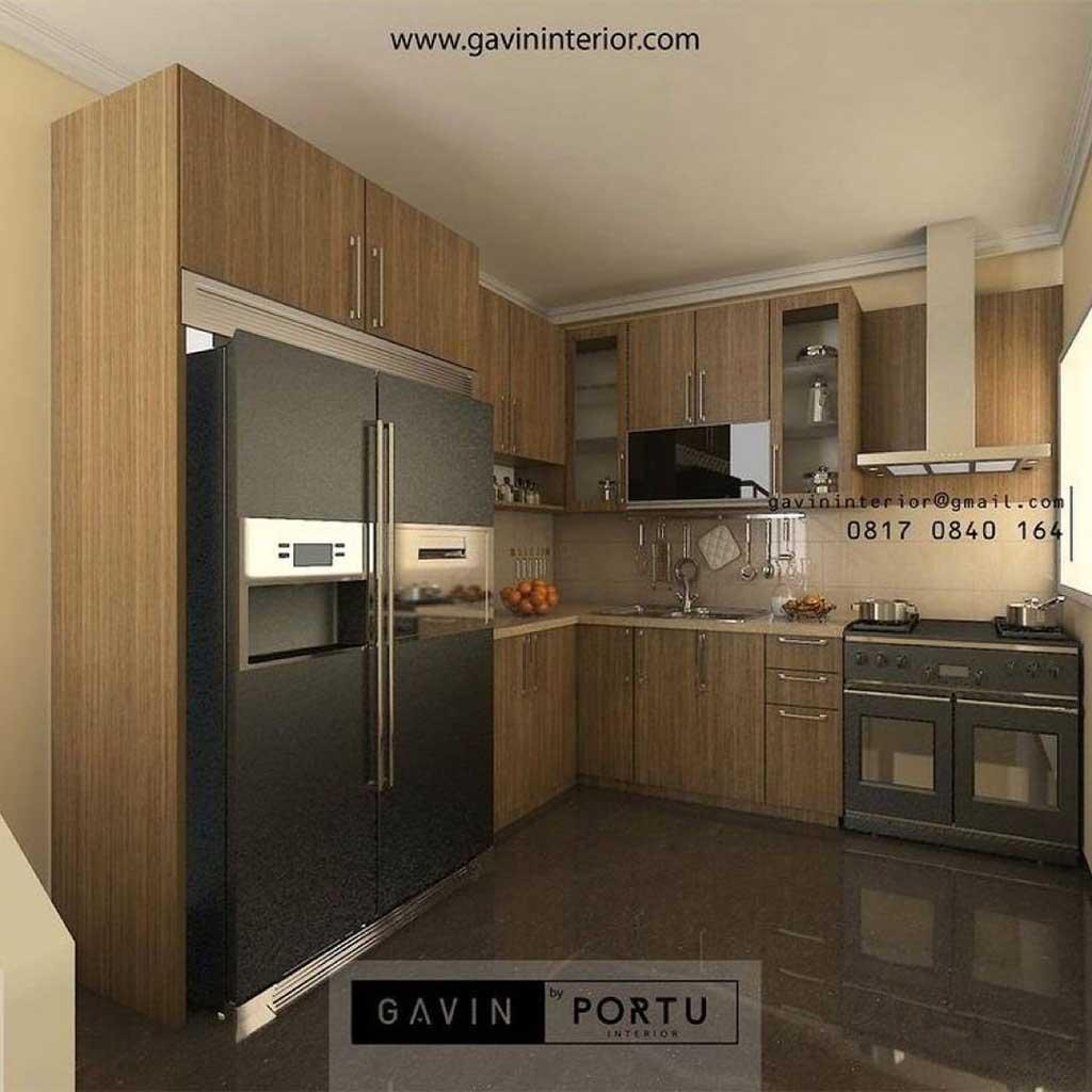 29+ Portofolio Kitchen Set Motif Kayu Mewah dan Murah