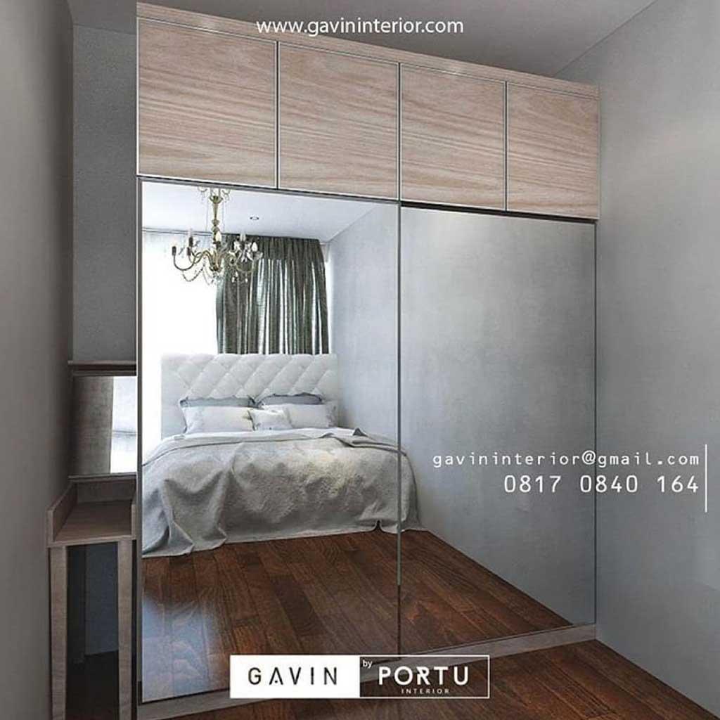 lemari sliding desain minimalis modern