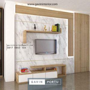 Desain Backdrop TV Mewah & Modern Terbaru