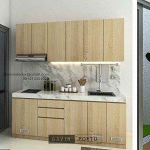 Kitchen Set Minimalis Motif Kayu Perumahan Darmawangsa Residence Tambun Utara ID5144