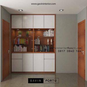 Lemari Buku Desain Minimalis Untuk klien di Pesanggrahan Petukangan Selatan Jakarta Selatan id3793P