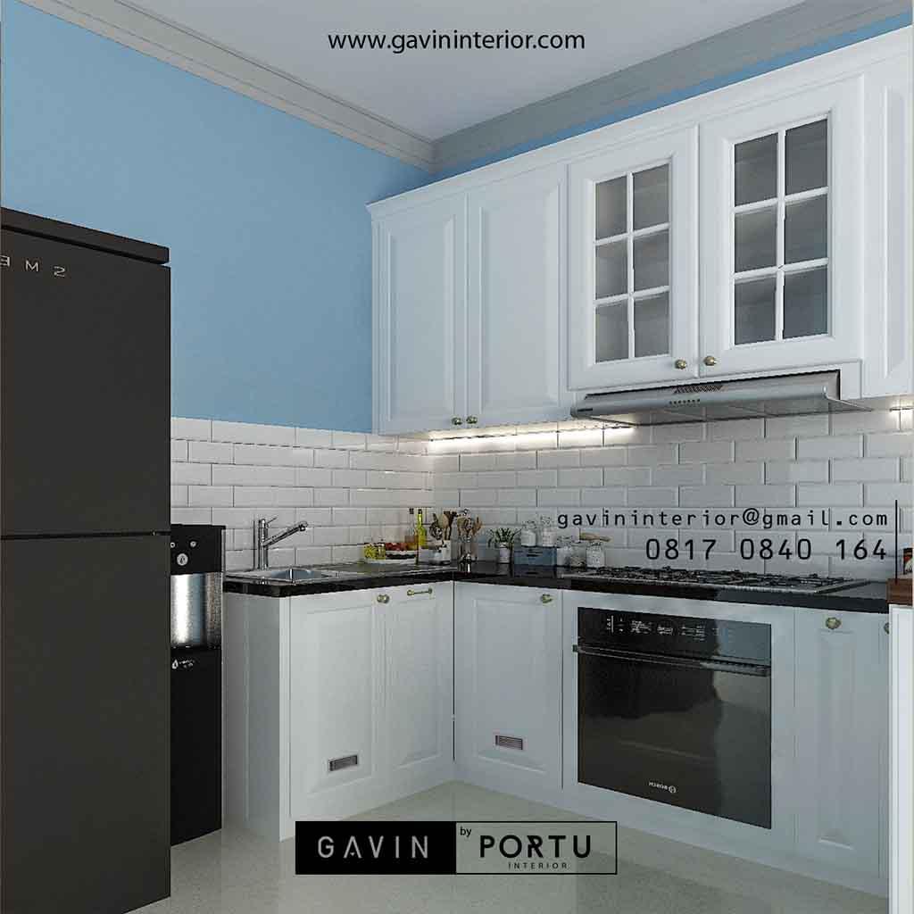 Contoh kitchen set putih cat duco gavin by portu