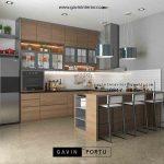 gambar kitchen set minimalis modern