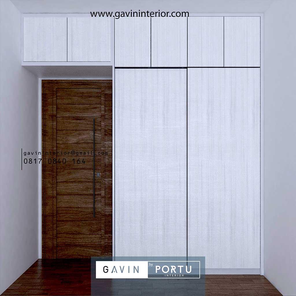 Jual lemari pakaian sliding 2 pintu minimalis id4360