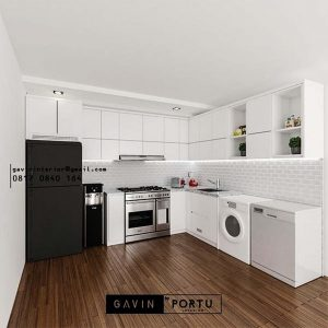 Bikin Kitchen Set Warna Putih Cluster Hylands Greenwich Park BSD City Pagedangan ID4809P