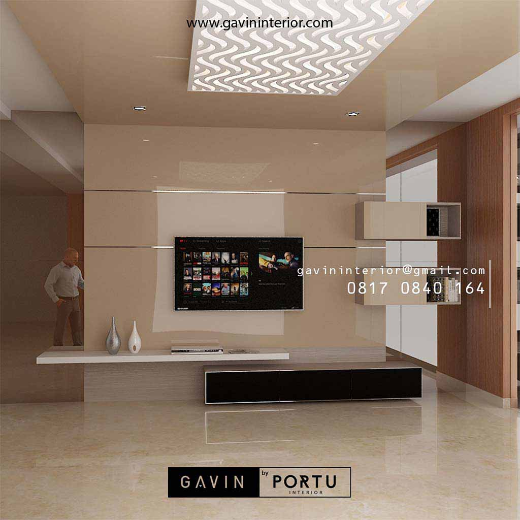 Ide Terbaru backdrop tv mewah desain minimalis