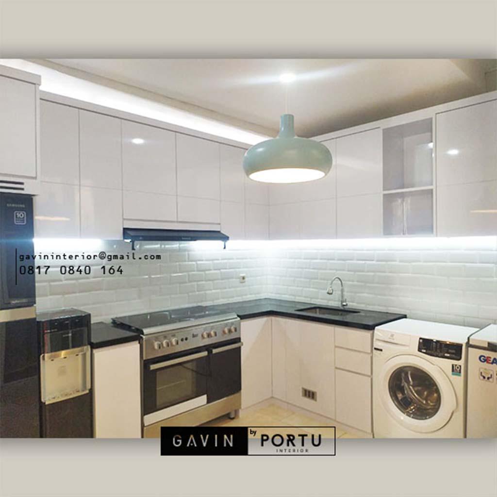Jas Bikin Kitchen Set Warna Putih Cluster Hylands Greenwich Park BSD City Pagedangan ID4806P
