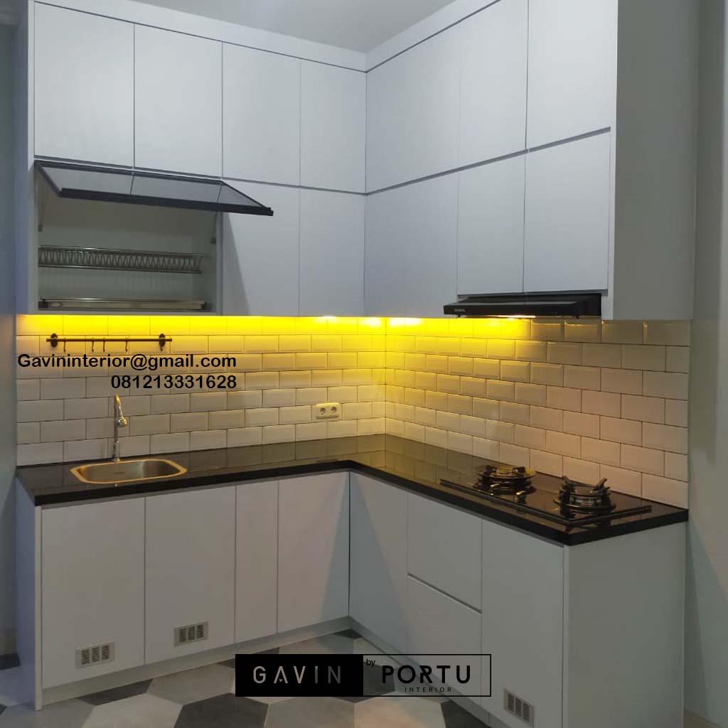 Jual Kitchen Set Minimalis Putih Perumahan Villa Rizki Ilhami Kelapa Dua Tangerang Id4823